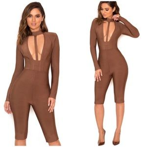 House of CB Bandage Knee Length Jumpsuit Romper